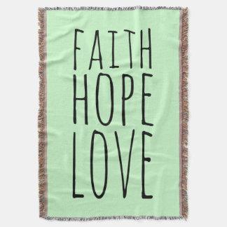 Faith Hope Love Throw
