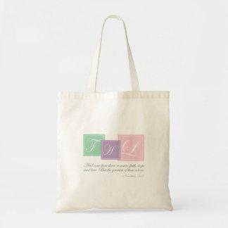 Faith, Hope, Love - Tiny Tote Canvas Bag