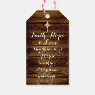 Christian christmas gifts on zazzle faith hope love vintage christian christmas gift tags negle Choice Image