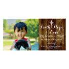 Faith Hope Love Vintage Christian Christmas Photo Cards