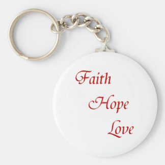 Faith Hope Love (Virtues Product) Keychain
