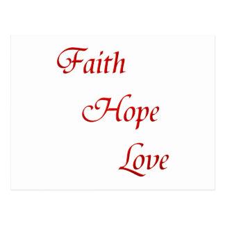 Faith Hope Love (Virtues Product) Postcard