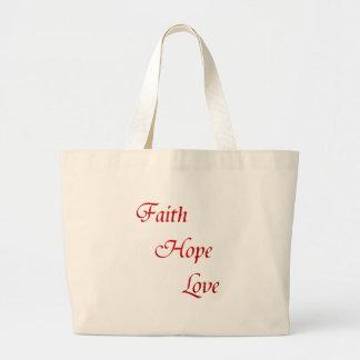 Faith Hope Love (Virtues Product) Tote Bags