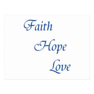 Faith Hope Love (Virtues Products) Postcard