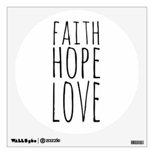 Faith Hope Love Wall Decal  sc 1 st  Zazzle & Faith Hope Love Wall Decals u0026 Wall Stickers | Zazzle