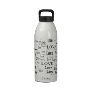 Faith Hope Love Reusable Water Bottles
