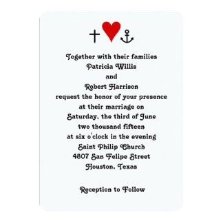 Faith Hope Love | Wedding Invitation