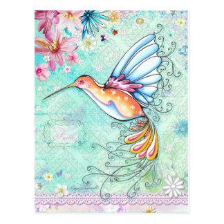 Faith Hummingbird Postcard