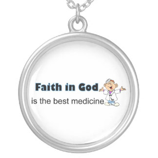 Faith in God is the best medicine with doctor Round Pendant Necklace