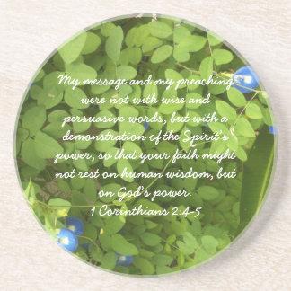 Faith in God's Power - Sandstone Coaster