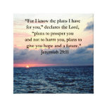 FAITH IN JEREMIAH 29:11 SUNRISE VERSE CANVAS PRINT