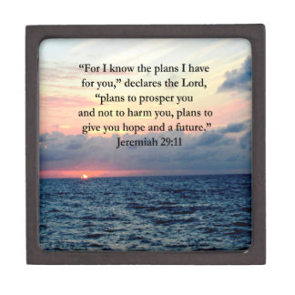 FAITH IN JEREMIAH 29:11 SUNRISE VERSE JEWELRY BOX