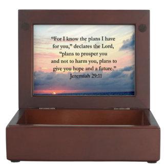 FAITH IN JEREMIAH 29:11 SUNRISE VERSE KEEPSAKE BOX