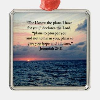 FAITH IN JEREMIAH 29:11 SUNRISE VERSE METAL ORNAMENT