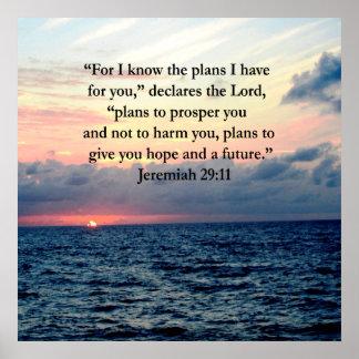 FAITH IN JEREMIAH 29:11 SUNRISE VERSE POSTER