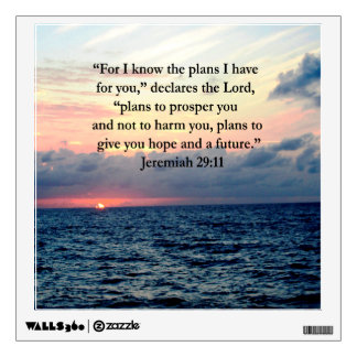 FAITH IN JEREMIAH 29:11 SUNRISE VERSE ROOM STICKER