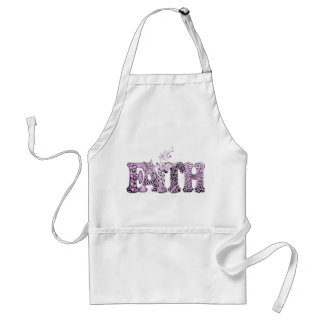 Faith in purple textured letters adult apron