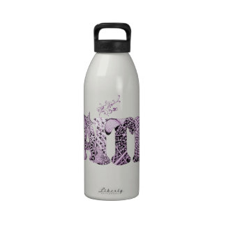 Faith in purple textured letters reusable water bottles
