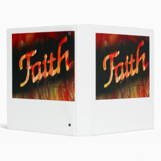 Faith in spray paint with black background & fire binders