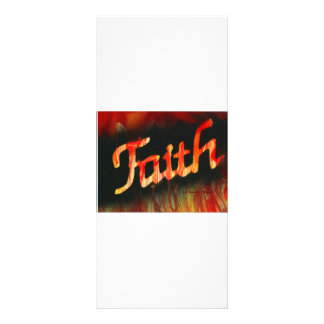 Faith in spray paint with black background & fire rack card