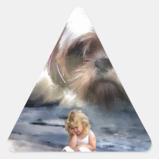 faith in the future triangle sticker