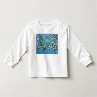 Faith Inspiration Angel Shirt (Art on Both Sides)
