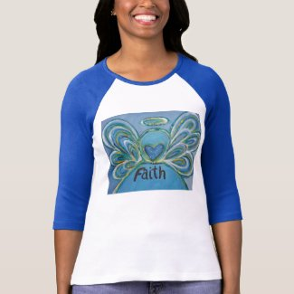 Faith Inspiration Angel Shirt (Art on Front Side)