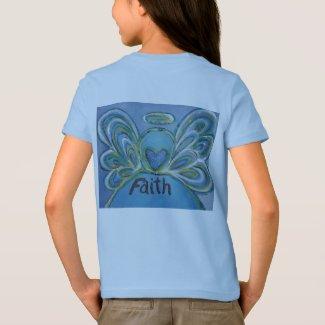 Faith Inspiration Angel T-Shirt (Art on Back Side)