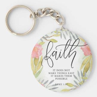 Faith Inspirational Gift Keychain