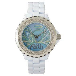Faith Inspirational Guardian Angel Wrist Watch