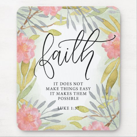 Faith Inspirational Mouse Pad
