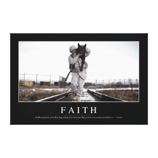 Faith: Inspirational Quote Canvas Print
