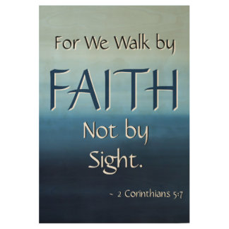 FAITH Inspirational Scripture Church Wall Art