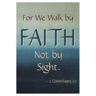 FAITH Inspirational Scripture Church Wall Art Wood Poster