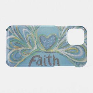 Faith Inspirational Word Angel Art iPhone Case