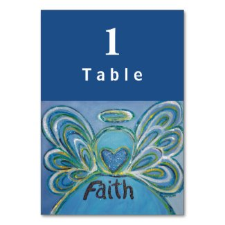 Faith Inspirational Word Angel Custom Table Cards