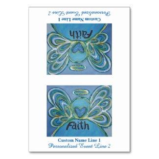 Faith Inspirational Word Angel Table Tent Card