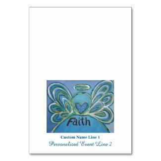 Faith Inspirational Word Angel Table Tent Cards