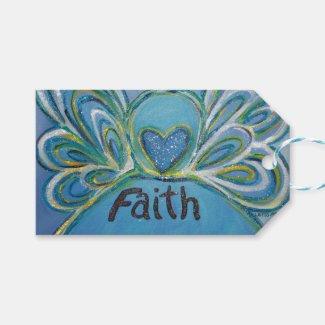 Faith Inspirational Word Custom Card Gift Tags