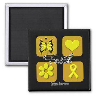 Faith Inspirations Sarcoma 2 Inch Square Magnet