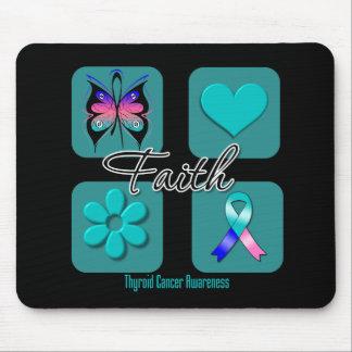 Faith Inspirations Thyroid Cancer Mouse Pad