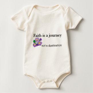 Faith is a journey not a destination baby bodysuit