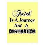 Faith is a Journey, Not a Destination Christian Post Cards