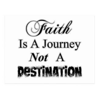 Faith is a Journey, Not a Destination Christian Postcard