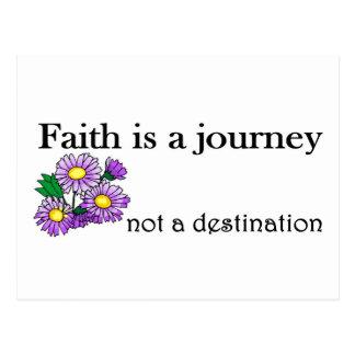 Faith is a journey not a destination postcard