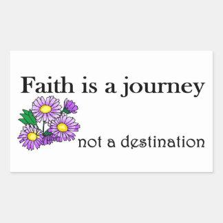 Faith is a journey not a destination rectangular sticker