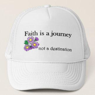 Faith is a journey not a destination trucker hat