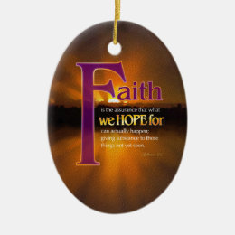 Faith Is Declaration Ornament