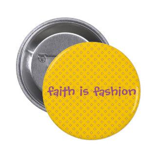 faith is fahion cross pattern button
