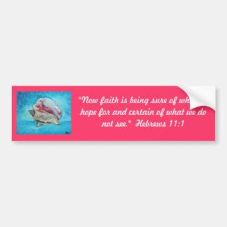 """""""Faith is..."""" Fine Art Inspirational Gifts Bumper Sticker"""